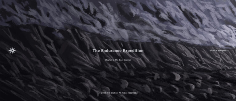 Joël Gruben_Endurance Expedition as Webcomic_Frame 1